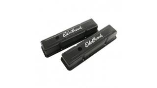 Edelbrock Signature Series Black Valve Covers Chevrolet SB