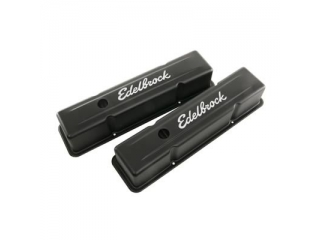 Edelbrock Signature Series Black Valve Covers Chevrolet SB