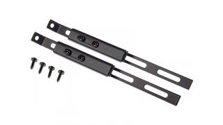 Inställbara stag, platt 200mm, platt, 2 st, svart,