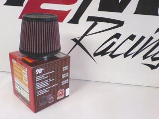 K&N Svart Enkelkonat luftfilter 70mm Längd 125mm