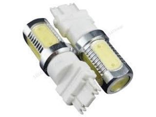 Diodlampa T20 eller 7443B tvåpolig 7,5W Power LED Röd med lins 2