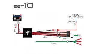 Kabelsats för 3st ljus + 3st DRL, DT 3-kontakt, max 12V 3x120W och 24V