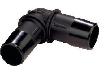 Skarvrör vinkel 90g 15mm (Plast)