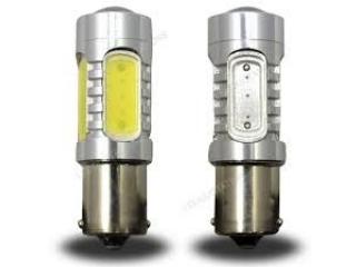 Diodlampa BA15D Tvåpolig 7,5W Power LED Röd med lins 2 Pack