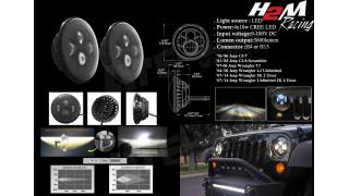 "Ljusinsats 7"" LED Svart Universal"