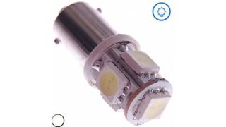 Diodlampa H6W xenonvit 5 SMD 2 pack