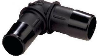 Skarvrör vinkel 90g 19mm (Plast)