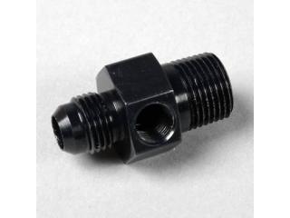 """AN6 & 3/8"""" npt adapter för bränslemätare 1/8"""".  Svart"""