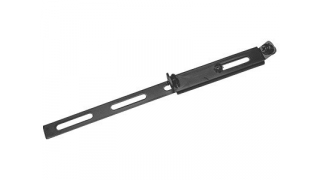 Inställbara stag, platt 200mm, platt, 1 st, svart, rostfritt stål