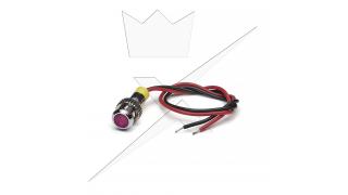 Indikatorlampa LED, Rosa 6mm