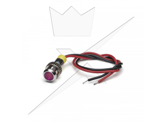 Indikatorlampa LED, Rosa 6mm