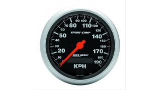 Autometer 89mm Hastighetsmätare 0-190km/h