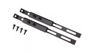 Inställbara stag, platt 200mm, platt, 2 st, svart, rostfritt stål