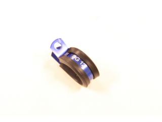 1st Alu 25mm Gummi klammer tex AN12 slang. BLÅ DG16