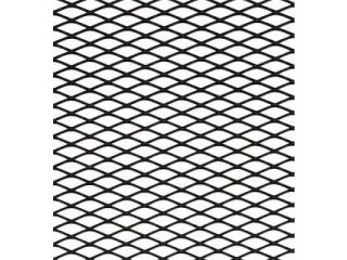 Svart Alu nät rombmönster 125*25cm