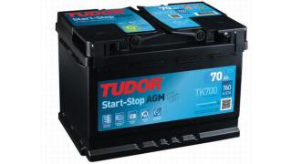 Tudor AGM 70Ah (Start / stop) 278x175x190mm