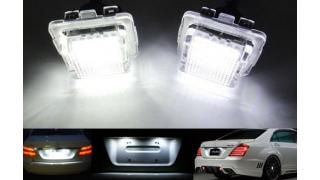 LED skyltlykta passande Mercedes W204 W216 W221