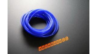 6mm Siliconslang Blå