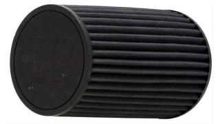 AEM Luftfilter Dryflow = utan filterolja. Stort 76mm Svarta