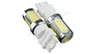 Diodlampa 3157 tvåpolig 7,5W Power LED Röd med lins 2 Pack