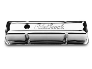 Edelbrock Signature Series Chrome Valve Covers Chevrolet SB