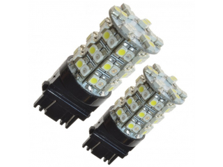 2-pack Diodlampor vit/orange 3157/P27/7W, 60 SMD