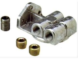 Perma-Cool Oljefilterhållare för 3/4-16 gängat filter. Ansl höger & vänster
