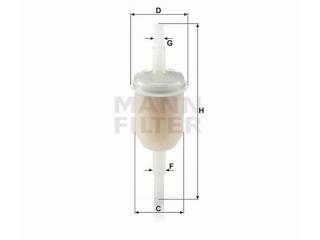 Bränslefilter MANN Med 6/8mm nipplar