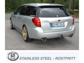 Subaru Legacy Estate 2,0R / 2,5i 2004-2009        100mm+100mm
