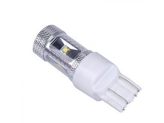 Diodlampa T20 enolig 6 x CREE LED Vit med lins 2 Pack