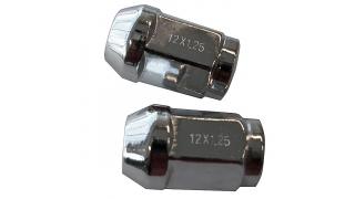 Hjulmuttrar Krom M12 1,25mm 60° Kona 20pack