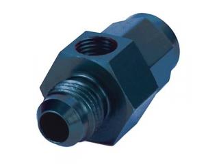AN6 adapter för bränslemätare. Svart Eloxerad