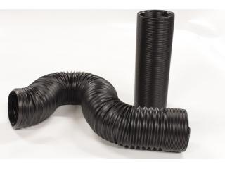 Luftslang 76mm flexibel med fast form 1m