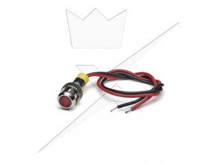 Indikatorlampa LED, Röd 6mm