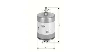 Bränslefilter MANN Med 8mm nipplar