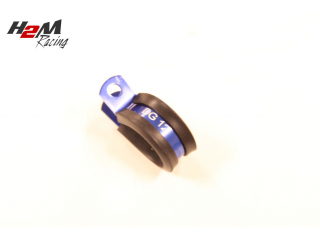 1st Alu 19mm Gummi klammer tex AN10 slang. BLÅ DG12