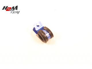 1st Alu 12mm Gummi klammer  tex AN4 slang. BLÅ DG6