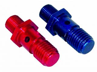 Nippel M10x1,0mm till  Banjo koppling M12x1,5mm gänga