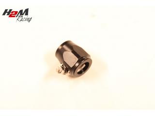 AN8 / 18mm Slangklämma Aluminium Svart