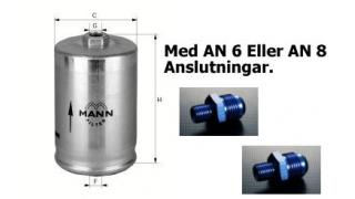 Bränslefilter MANN AN6 in och ut