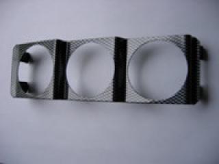 3st 52mm mätare DIN uttag Svart